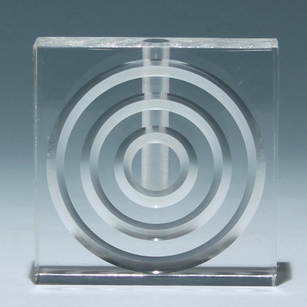 Plexiglas Blockvase 1970er Jahre