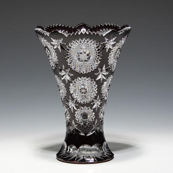 Hochwertige Bleikristall Überfangglasvase - 1970-80er Jahre