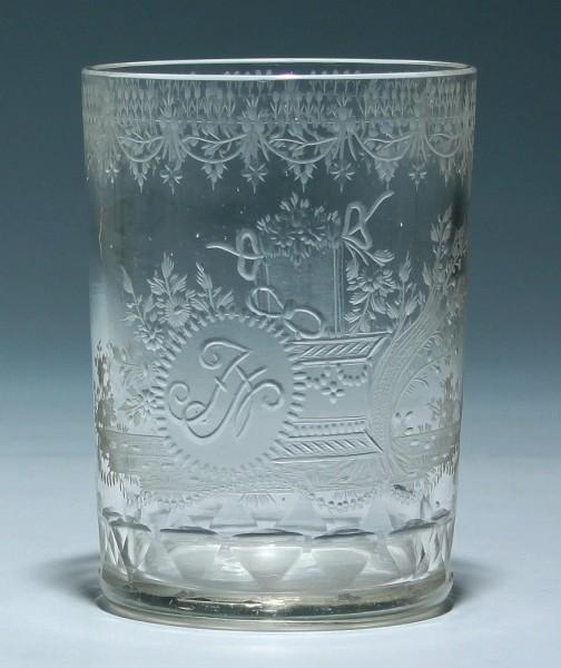 Empire Becherglas - Franz Anton Riedel 1810-20