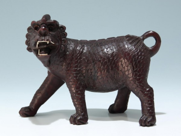 Chinese Carved Foo Dog Lion - 20th C.