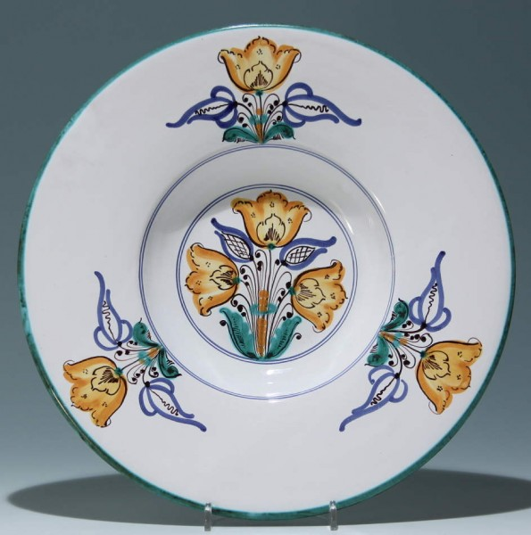 Keramik Wandteller - FALLUSI B. - Ungarn 1982 Ø 31,5 cm