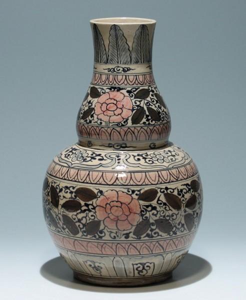 Große Keramikvase - China oder Korea Ende 20. Jh. - 35 cm