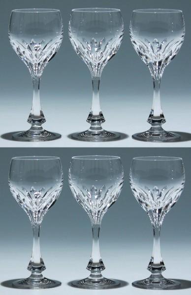 6 Nachtmann Bleikristall Weingläser ISABELLA 17,2 cm
