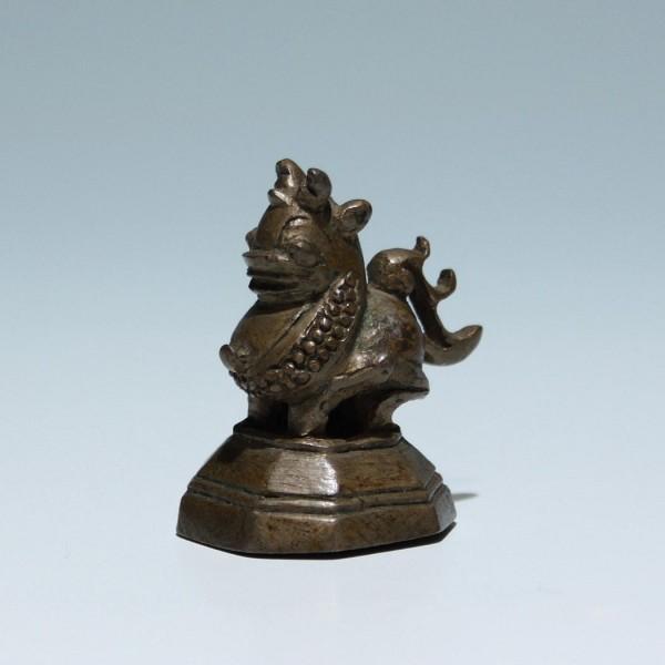 Altes Bronze Opiumgewicht 82 Gr. - Burma / Myanmar
