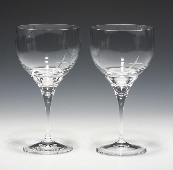 Paar Schott Christinenhütte Bleikristall Kelchgläser - 18,8 cm