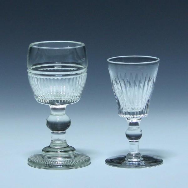 2 Bleikristall Gläser Portwein bzw. Schnapsglas 19. Jh.