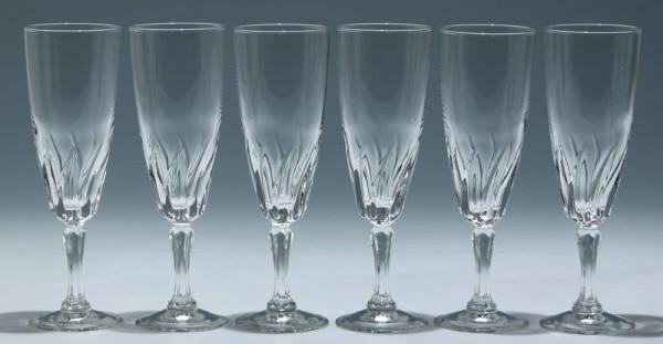 6 Cristal d`Arques Sektgläser FLAMENCO