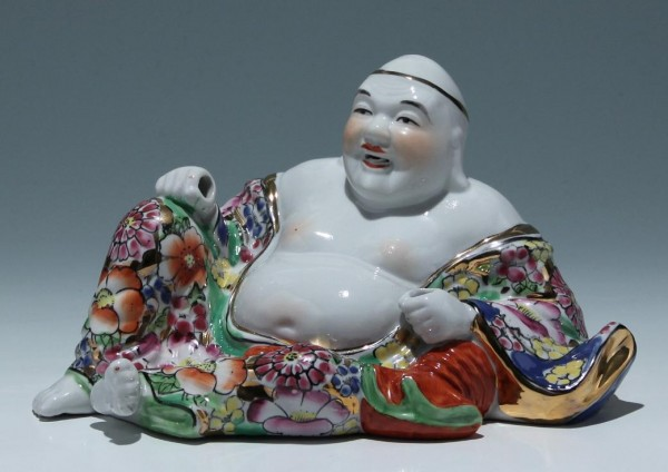 Chinese Laughing Porcelain Buddha - End of 20th. C.