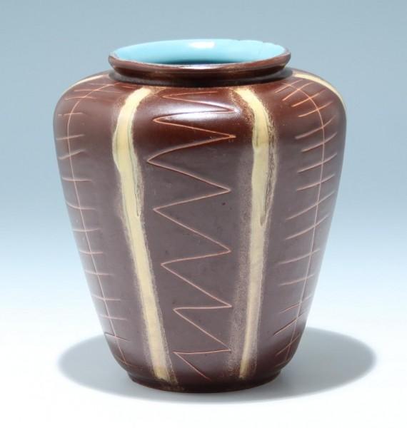 Keramikvase ISOLDE mit Ritzdekor 1950er Jahre
