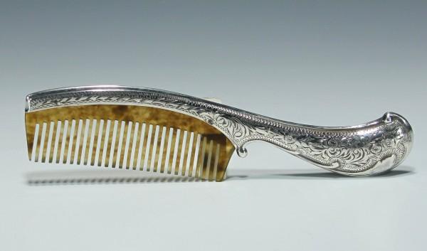 Edwardian / Jugendstil 900er Silber Kamm circa 1900-1910