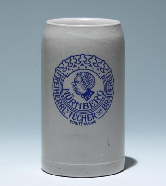 Bierkrug FREIHERRL. v. TUCHERsche BRAUEREI NÜRNBERG - 1 L.