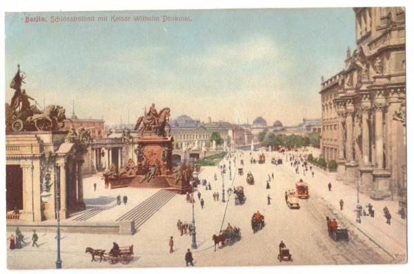 Ansichtskarte BERLIN SCHLOSSFREIHEIT - gelaufen 1909