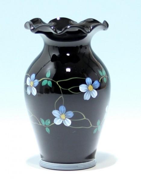 Vase mit Emaildekor - Ilmenau 1950er Jahre