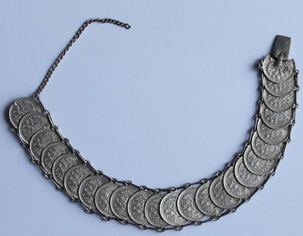 Russisches Silbermünzen Armband 24 x 5 Kopeken 1914 / 1915
