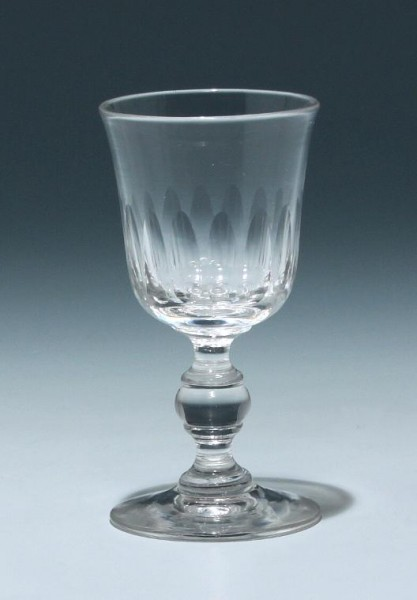 Bleikristall Kelchglas Frankreich 19. Jh. - Höhe 11 cm