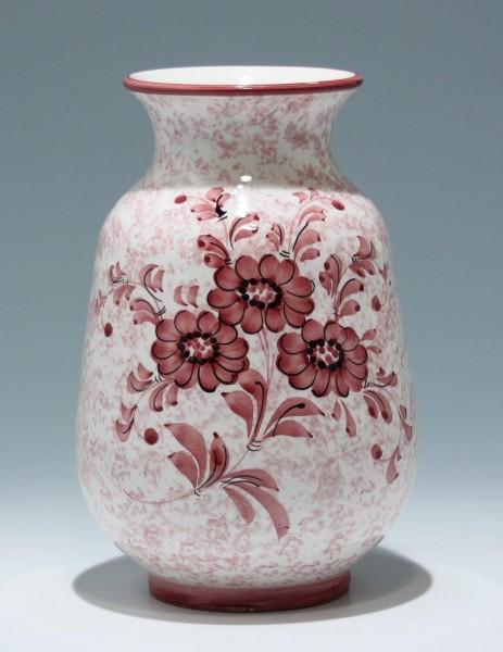 Handbemalte Keramikvase - 1960/70er Jahre - 24,3 cm