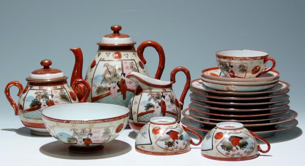 Japanese Kutani Porcelain Teaset (only 3 cups)