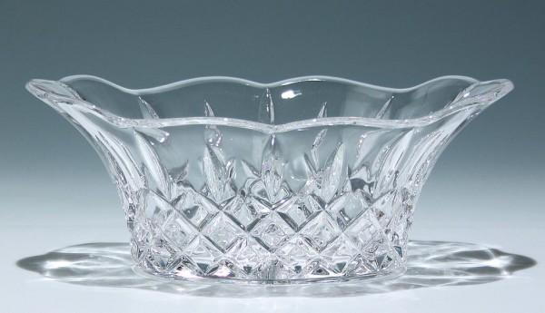 Moderne Bleikristall Pressglasschale mit Schliffdekoration