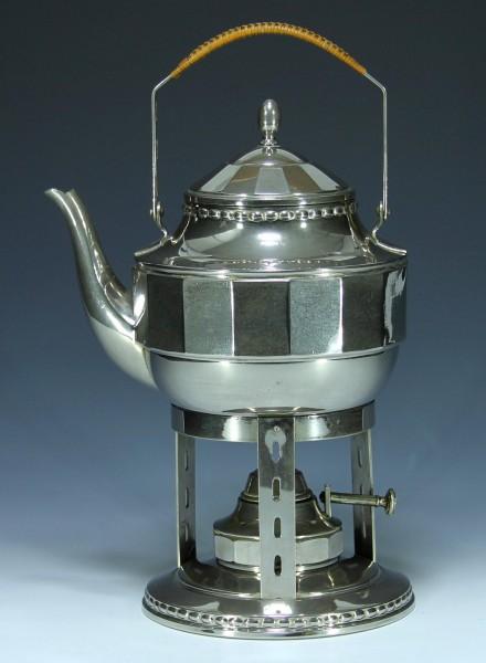Jugendstil bzw. Art Deco Teekanne auf Rechaud um 1920-Copy