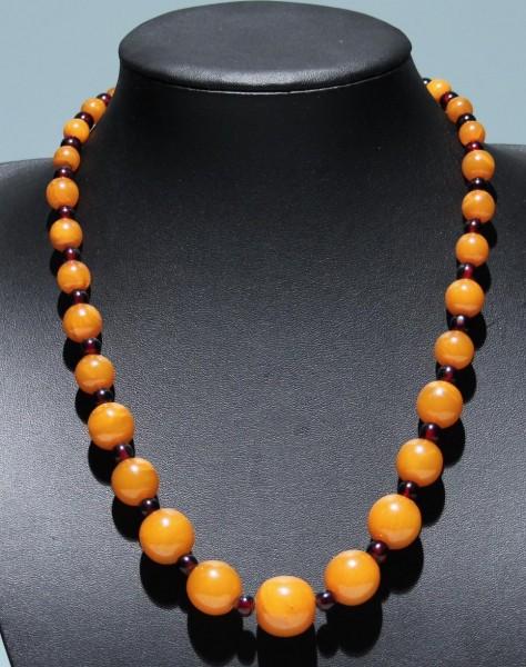 Butterscotch Bakelit no Amber Halskette 1930er Jahre - 56 cm