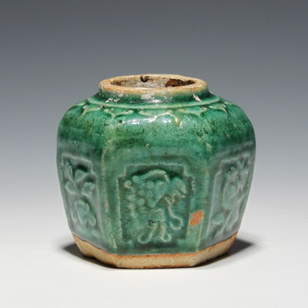 Small Chinese Pottery Ginger Jar - Early 20th. C. - No Lid