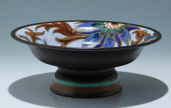 Art Deco Keramik Fußschale GOUDA Holland