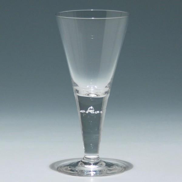 Josephinenhütte Kelchglas HEDWIG mit 7 Luftblasen - ca. 1900