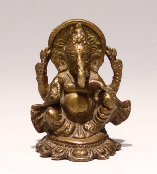 Indian Bronze Ganesha - 20th C.