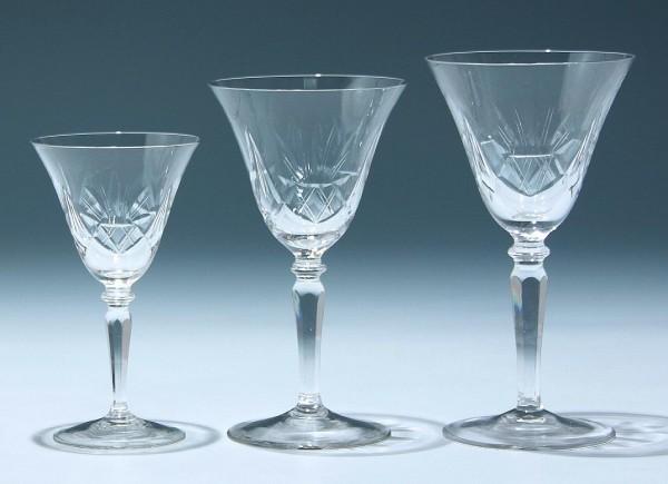 3 Art Deco Weingläser 1930er Jahre -12,7, 15 und 16 cm