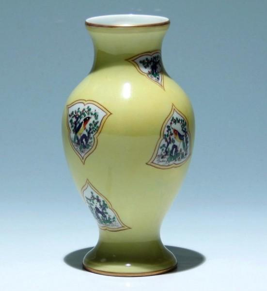 French Porcelain Vase with chinese Kangxi Pattern - Samson Paris