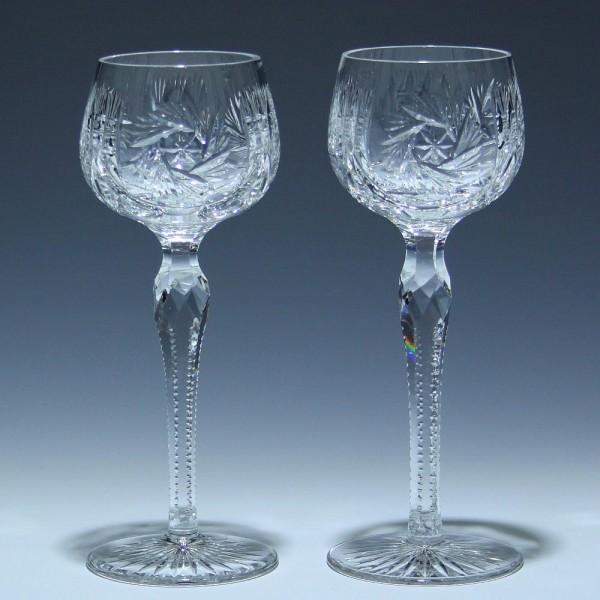 Paar Bleikristall Römer Weingläser Mitte 20. Jh. - 20,3 cm