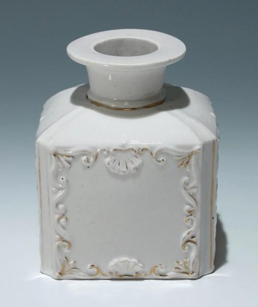 Biedermeier Porzellan Teedose - Marke SPM