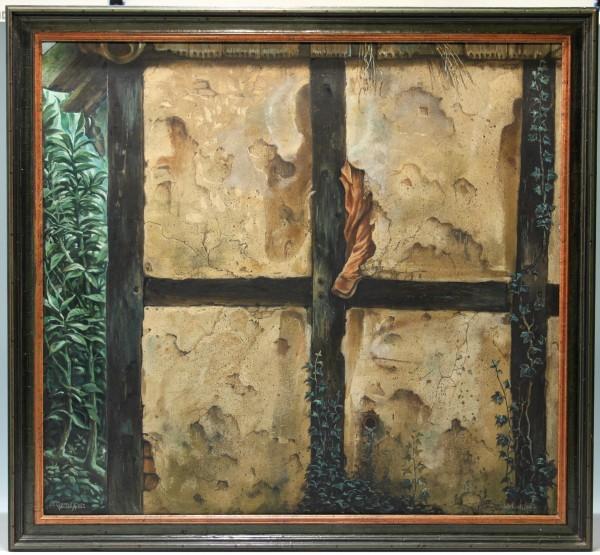 Gemälde DER EINSTIEG von Gernot Klein, datiert 1980
