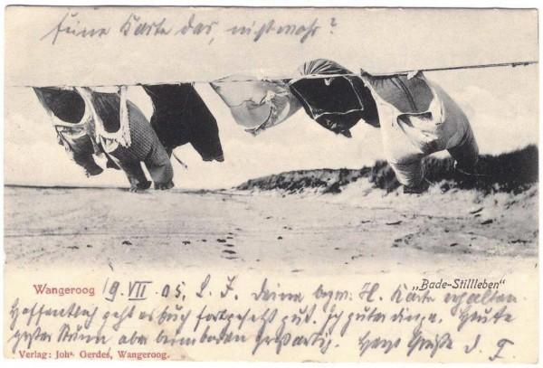 AK WANGEROOGE - BADE-STILLEBEN - datiert 1905 #ak0107