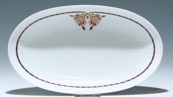 Ovale Rosenthal Platte ROMANZE Orchidee 24 cm