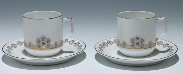 Paar Fraureuth Jugendstil Kaffeetassen - um 1910