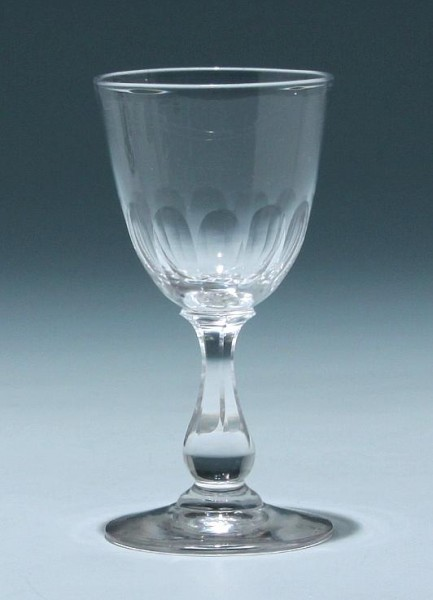 Bleikristall Kelchglas - Frankreich circa 1900 - Höhe 11,5 cm