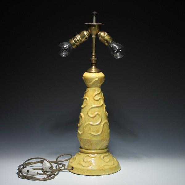 Art Deco Keramik Tischlampe circa 1920