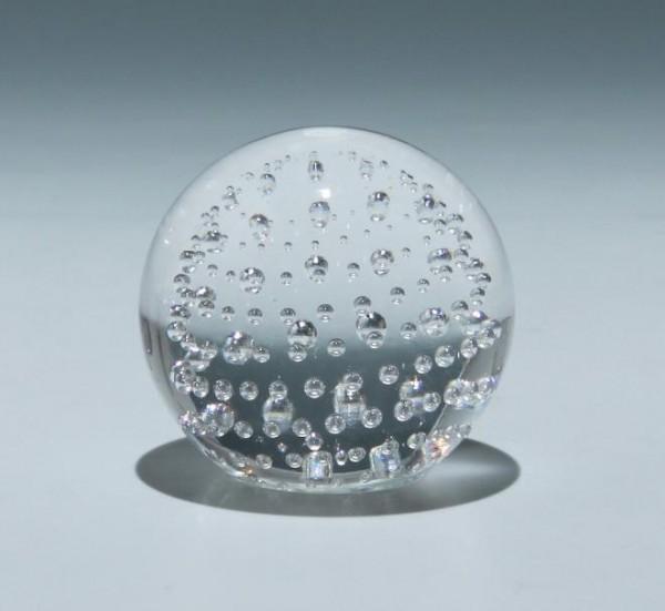 PFEIFFER-Holland Paperweight mit Luftblasennetz - 589 Gramm