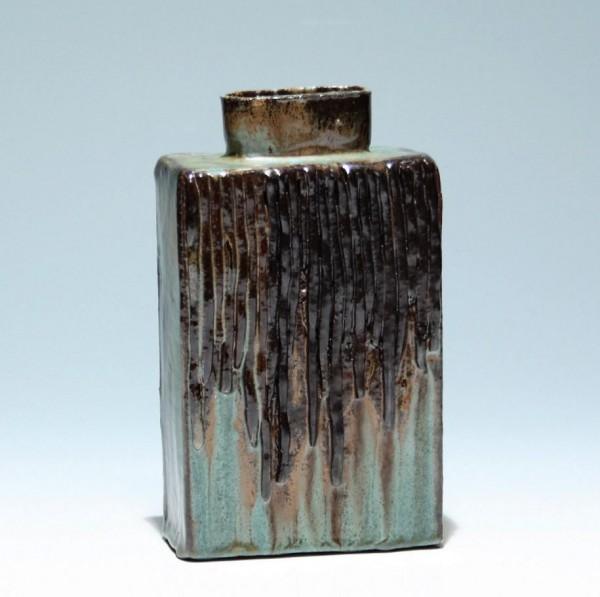 Moderne signierte Studiokeramik Vase