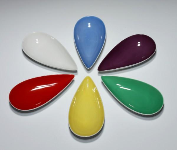 6 farbige Rosenthal Puzzleschalen Form 695 - 1950er Jahre