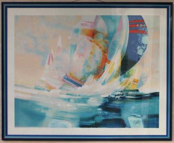 Große Lithografie - Galerie + Rahmen Westerland SYLT