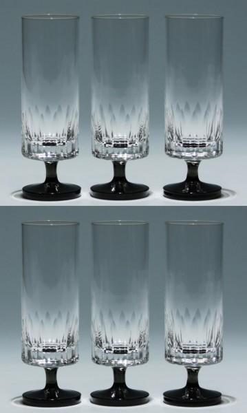 6 Friedrich Glas Sektgläser 1960er Jahre