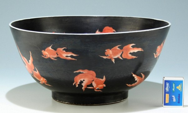 Big Chinese Goldfish Bowl Early 20th. C. - 30,3 cm