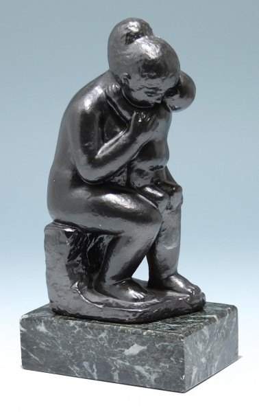 Keramik Skulptur MUTTER MIT KIND - monogrammiert
