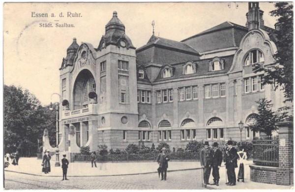 AK ESSEN - Städt. Saalbau - gelaufen 1911