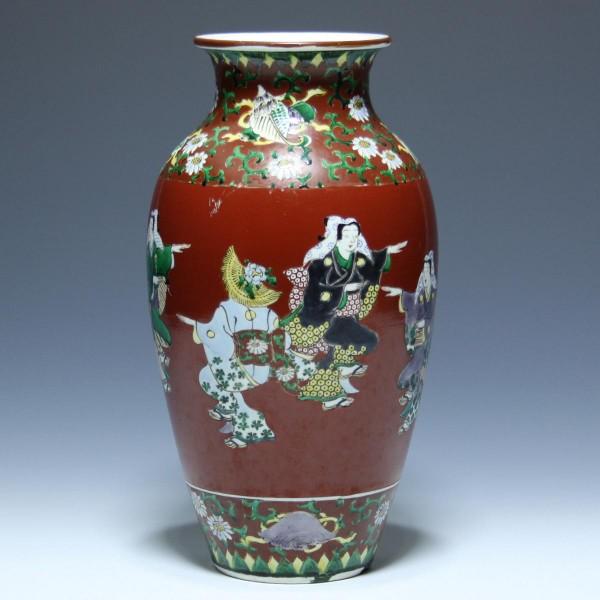 Porzellanvase mit Tänzern - Japan 1. H. 20. Jh. - 29,6 cm