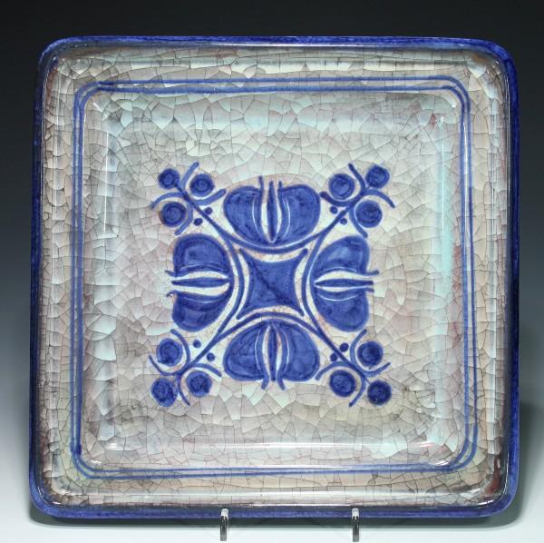 Michael Andersen Bornholm Crackle Glaze Wallplaque 1960s
