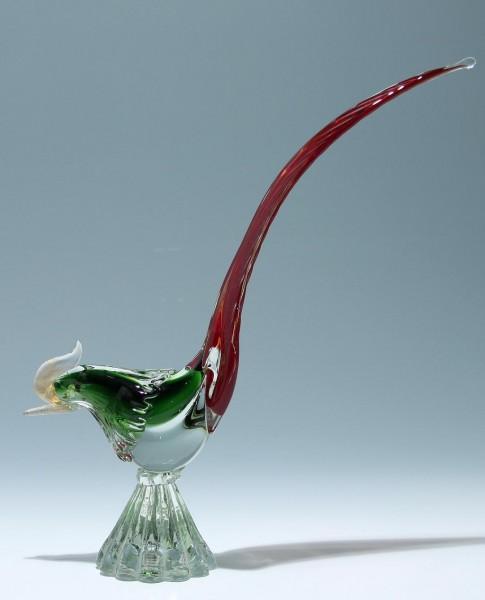 Großer Murano Glas Fasan 1950er Jahre - Glass Pheasant 1950s