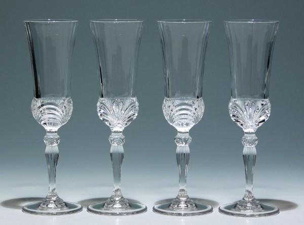 4 moderne Bleikristall Sektgläser Distelblüte-Copy